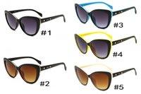 Wholesale Designer Cateye Eyewear - High quality Goggle Outdoor brand designer Eyewear vintage Sunglasses lady women femal black Fashion Cateye Retro with original box and case