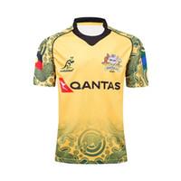 Wholesale australian shirt online - Hot sales Australia wallabies rugby shirt NRL Jersey Australian WALLABY rugby Jerseys Commemorative Edition shirts s xl