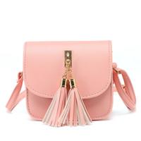 Wholesale Fringed Purses - Wholesale-Bolsas Feminina PU Leather Mini Women Fringed Crossbody bag New Korean Tassel Messenger Shoulder Bag Sling Purse Lady Handbag