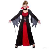 ropa de fiesta de las mujeres europeas al por mayor-2017 Nuevo Patrón Ropa de Vampiro de Halloween Juego Europeo Uniforme Vampiro Condesa Ropa Ropa de fiesta mujer Disfraces de Reina