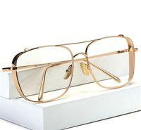 Wholesale Iron Frame Mirror - IRON MAN 3 Matsuda TONY Steampunk Sun glasses Men Mirrored Designer Brand Glasses Vintage Sun glasses