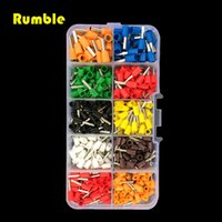 Wholesale Crimp Connector Kit - 600pcs 22-14awg 8 Color Electrical Copper Wire Crimp Tube Connectors Spade Insulated Cord End Cable Wire Terminal Tool Kit Set