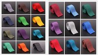 Wholesale Solid Knitted Neck Tie Woven - 21Color Knitted Neck Ties Men Solid Color Knots Knitting Ties Pure Color Fashion Slim Skinny Neckties Woven Ties Wedding Party Formal Neckti