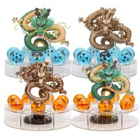 figura de shenron al por mayor-15 cm Dragon Ball Z Figuras de acción Shenron Dragon Ball Z Figuras Set Esferas Del Dragon + 7pcs 3.5 cm Bolas + Estante Figuras DBZ