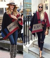 Wholesale Capes Ponchos For Women - Warm Pashmina shawl Wool Cashmere Blanket scarves scarfs Style Cape Sweater Coats patchwork Poncho cloak for women Clothes