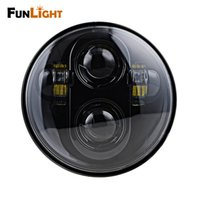Wholesale Led Projector Headlights Motorcycle - Funlight New Motorcycle Accessories 5.75 Inch Led Headlight Motorcycle For Harley Davidson Black Projector Daymaker