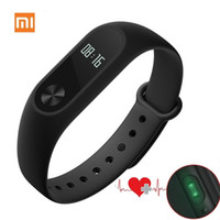Wholesale Stockings Hearts Wholesale - Original Xiaomi Mi Band 2 Wristband Bracelet with OLED Touchpad Monitoring Heart Rate Fitness Mi Band 2 Xiao mi Stock