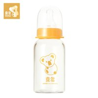 Wholesale large diameter glass - HITO Standard Neck Baby Feeding Bottles General Diameter Straight Tube High Heat-resistant Glass Nursing Bottles 120ml   240ml