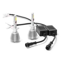 Wholesale Main Beam - 2PCS Pair H1 LED Car Light Dipped Main Beam 5000k White Car Headlight Bulb for 12 24V Original Halogen Lamp Replacement