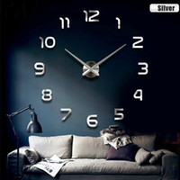 Wholesale Modern D Wall Clocks DIY Wall Sticker Clock Fashion Home Decoration Arabic Numerals Wall Clock for Living Room