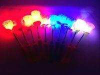 Wholesale Magic Star Light - 10 PCS LED Magic Heart Rose Star Wand Flashing Lights up Glow Sticks Party Concert Xmas Halloween