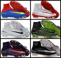 2017 Vente en gros Nouveaux Mercurial Superfly V FG Hommes Soccer Boots AAA Quality Hommes Football Bottes Cleats Football Chaussures Sports Sneakers 39-45