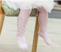 Wholesale Leggings Tights Tube - Baby tights in summer Cotton mesh Tights socks Dancing Lace Stitching Socks Cotton Tube Socks Kids Princess stockings