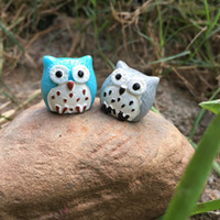 Wholesale Umbrella Japan - Best gift Bonsai resin animal ornaments micro - landscape resin ornaments owl HM013 mix order as your needs