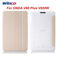 Wholesale Case Tablet Onda - Wholesale- Original PU Leather Case Flip Cover For Onda V820W V80 Plus 8 Inch Crystal tablet pc Case For ONDA V80 Plus V820W CH
