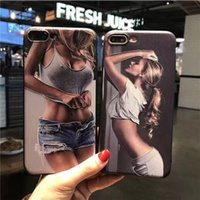 Wholesale Couples Boy - For iphone6s 8 plus cell phone TPU cases Ultra thin couple pattern Europe and the United States trend new for iphone7 boy girl free shipping