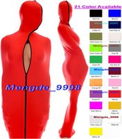 Wholesale Mummy Cosplay - 21 Color Lycra Spandex Mummy Suit Outfit Costumes Unisex Sleeping Bag With Internal Arm Sleeves Halloween Cosplay Suit Mummy Costumes M004