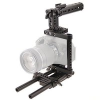 Wholesale top handles dslr - Camera Cage Rig w Top Handle Tripod Mount Plate fr Canon Nikon Sony Panasonnic