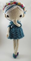 Wholesale Plush Roses 12 - Wholesale- Azul - Amigurumi Doll Crochet