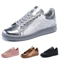Wholesale Pink Patent Flats - 2017 Raf Simons Stan Smith Spring Copper White Pink Black Fashion Shoe Man Casual Leather brand woman man shoes Flats Sneakers 36-45