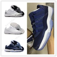Wholesale Baron Plush - (With Box) Retro 11 Low GS Heiress Frost White Universtiy Barons Mens basketball shoes man sneakers Blue Moon 11s basketball Sport Shoes