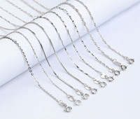 Wholesale Wholesale Sterling Silver Body Chain - Wholesale 40cm 925 Sterling Silver Necklaces Slim Thin Snake Chains Necklace Women Body Chain Kids Girls Jewelry