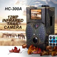 12mp scouting camera venda por atacado-Atacado-Hot Sale 12MP Trilha Da Vida Selvagem Câmeras Scouting Câmera Digital Caça Infravermelho Trail Caça HC-300A Trap Jogo Wildlife Câmeras