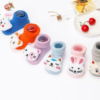 Wholesale Socks Wholesale China - Baby Kids Clothing Childrens Socks Winter warmer girls Boy christmas animal ankle sports socks Cotton 85% China stockings 0-12Mos #YB-13-53