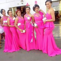 Fuschia Maid of Honor Dresses
