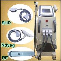 Wholesale Ipl Beauty Machine Salon - SHR ipl hair removal laser nd yag laser tattoo removal machine rf beauty system salon hair removal machines OPT SHR acne treatment device
