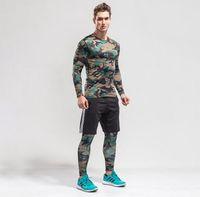 2017 Camouflage 3 pcs Hommes Sport Costumes À Séchage Rapide Basket-Ball De  Football Formation Survêtements Fitness Gym Vêtements D exécution Ensembles b6b70a6c73c