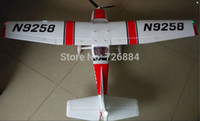 Wholesale Cessna Rc Rtf - Wholesale- RC airplane Cessna 182 1410mm wingspan 6ch with flaps, led light epo RTF, no battery