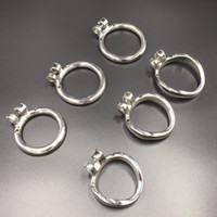 Wholesale Cock Ring For Chastity - 40mm 45mm 50mm separated base ring for stainless steel cock cage chastity devices for men chastity snap ring
