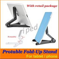 Wholesale Cheap Kindles - Portable Foldable Tablet Stand Holder for Apple iPad Mini Kindle Less than 10 inch Tablets Smart phone Durable ABS PC Material 300pcs cheap
