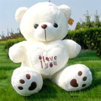 großer weicher riesen-teddy großhandel-50cm Riesengroßes Riesengroßes Teddybär Plüschtier I Love You Valentine Geschenk