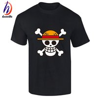 Wholesale One Piece Shirts For Women - One Piece T shirt 2017 Fashion Japanese Anime Clothing Back Color Luffy Cotton T-shirt For Man And Women,Brand Camiseta,TH001