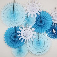 Wholesale New Inch Tissue Paper Fan Decoration Wedding Event Party Christmas Birthday Party Decorations For Baby Shower