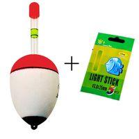 09802c744 Wholesale- 1 Float + 5 Light Stick EVA pesca Galleggianti Bobber Set 10 g    20 g   30 g   40 g   50 g   60 g Sea Schiuma Pesca Galleggiante Accessori  Da ...
