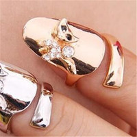 Wholesale Korean Fashion Order Wholesale - Min.order is $15 (mix order)-Korean Fashion Creative Personality Cat Ring Opening Nails-J183