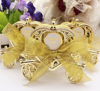 Wholesale Wholesale Heart Shaped Chocolates - Love Carriage Wedding Box Party Favours Gift Candy Chocolate Box Gold and Silver Box for Wedding Baby Birthday Party