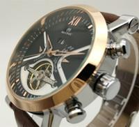 homens relógios china marca venda por atacado-Relógio Automático Mecânico Automático dos homens de 5 pinos Calendário Grande Relógio de Couro do Volante China Guangzhou Marca de Moda MUONIC Cópia do Relógio