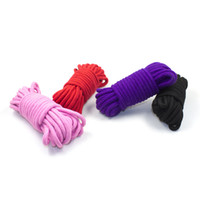 Wholesale Bondage Rope Black - BDSM Bondage Ropes for Sex Polyester Cotton 10M Tapes for Adults Play Games Role Play Bondage Tools