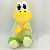 Wholesale Super Mario Bros Plush Characters - Wholesale- 2016 Super Mario Bros Plush Koopa Troopa Character Soft Toy Gift Stuffed Animal Green 6in