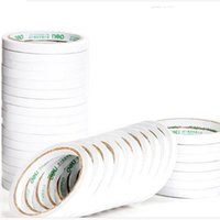 Wholesale Double Face Paper - 93mm X 9mm Clear double faced adhesive sticker tape sticky for paper,fabrics touch panel have stock in fast ship Free Shipping