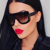 ingrosso grandi occhiali quadrati-All'ingrosso-2017 unico marchio di design da donna occhiali da sole quadrati occhiali da sole vintage oversize grande montatura occhiali da sole occhiali da sole sfumati in acetato