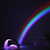 mini proyector usb accionado al por mayor-Modelos de fuente de alimentación de modelo de alimentación USB y 3AA Dos Modelos de lámpara de proyector de arco iris Mini luz de noche LED de colores