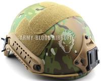 Wholesale Helmet Desert - Wholesale- FAST Ballistic Helmet Rapid Response Tactical Helmet (MC FG AT TAN AOR1 Digital Desert BK Woodland ATFG ACU)