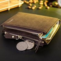Wholesale Vertical Wallet Id - Baborry HOT Men Wallets Vertical Section Coin Purse Small Vintage Wallet Brand High Quality Designer ID Credit Card Holder Coin Purse Wallet
