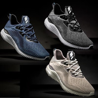 Wholesale Rubber Bounce Shoes - New Arrival Top Quality Women Men Alpha Bounce Boost 330 Running Shoes Black Gold Blue Alphabounce comfortable Sports Sneakers Eur36-45