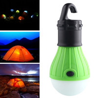 Wholesale outdoor portable hanging light - Wholesale-New Arrive Green Camping Light Portable LED Camping Lantern Light Lamp Outdoor Hanging Portable Lanterns Use 3*AAA Batteries